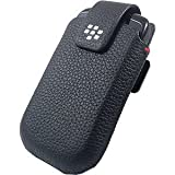 Blackberry Leather Swivel Holster for Blackberry 9800 (Black)