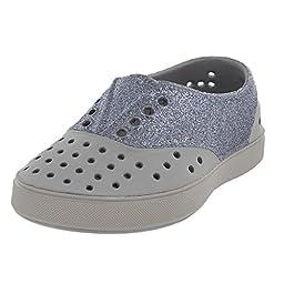 Native Miller Glitter Child Slip On Sneaker (Toddler/Little Kid), Pigeon Grey/Pigeon Grey/Glitter, 7 M US Toddler