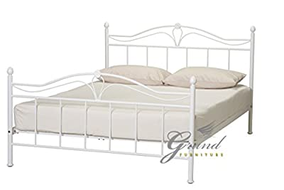 Exclusive Apollo French Style White Double Metal Bed Frame Single King Size Beds