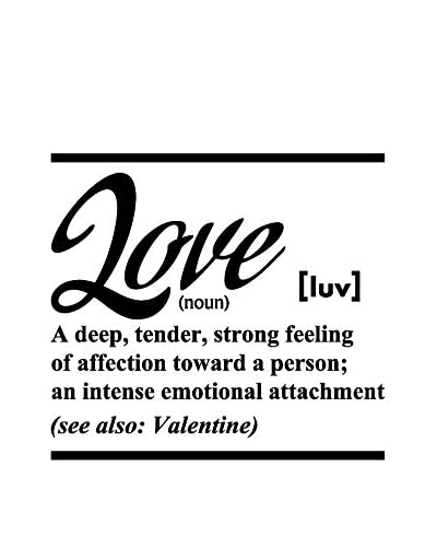 Ambiance-sticker Wandtattoo English Quote Definition Love