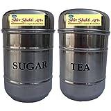 SHIV SHAKTI ARTS Set Of Sugar & Tea Container For Storing Purpose At Home