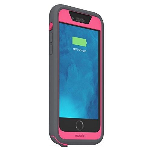 日本正規代理店品・保証付mophie juice pack H2PRO for iPhone 6s/6 防水バッテリーケース グレイ/ピンク MOP-PH-000098