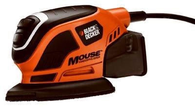 Black & Decker/Dewalt MS800B Mouse Detail Sander, With Dust Trap Collection System, Contour Attachments     MASTER USA