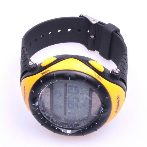 Bestdealusa Yellow Solar Powered Waterproof Digital Sports Watch