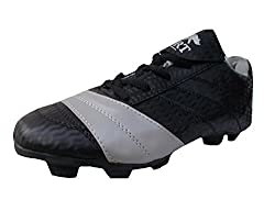 Port Unisex Nitro Silver Black PU Soccer Shoes(Size 9 UK/IND)