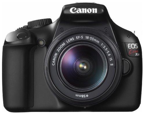 Canon デジタル一眼レフカメラ EOS Kiss X50 ブラック EF-S18-55IS2レンズキット KISSX50BK-1855IS2LK