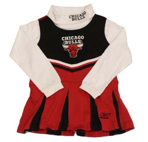 Chicago Bulls Cheerleader Red/white Turtle Neck Outfit (Medium (5-6)) at Amazon.com