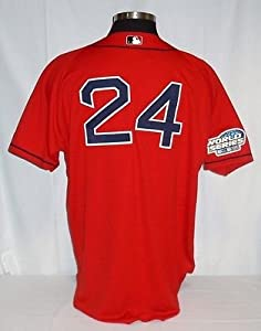 Manny Ramirez Boston Red Sox Authentic Red 2004 World Series Jersey Size 52 by Your Sports Memorabilia Store