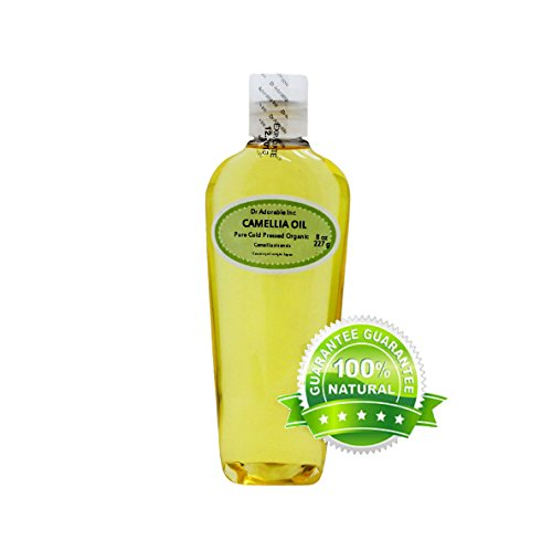 Camellia Seed Organic Carrier Oil Cold Pressed 100% Pure 8 Oz