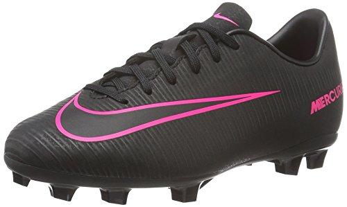 Nike Unisex - Bimbi 0-24 Jr Mercurial Vapor XI FG scarpe da calcio, Schwarz (Schwarz/Schwarz/Pink), 32