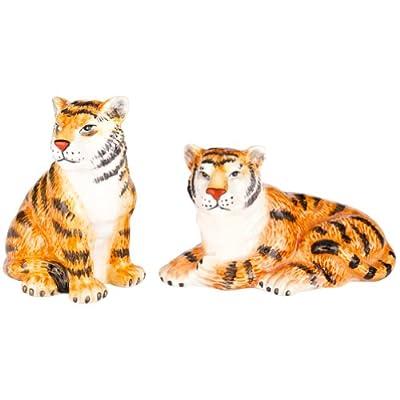 Charles Sadek Import Co - Tigers Sitting & Laying Salt & Pepper Shakers from Charles Sadek Import Co