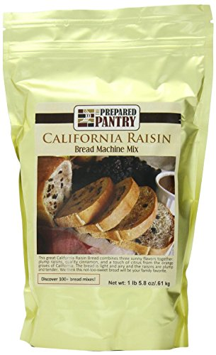 The Prepared Pantry California Raisin Bread Machine Mix, 87.2 Ounce (Cinnamon Raisin Bread Machine Mix compare prices)