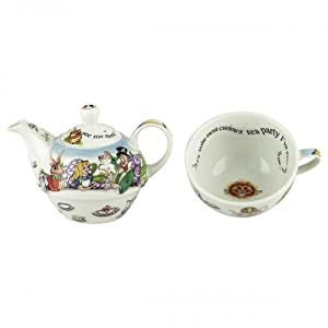 Cardew Alice in Wonderland Porcelain Tea Set with 16-Ounce Pot and 10-Ounce Cup, Service... by Cardew