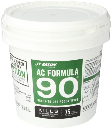Jt Eaton 791-75 A-C Formula 90 Rodenticide Anticoagulant Seed Bait With Grains, For Mice And Rats (Pail Of 75)