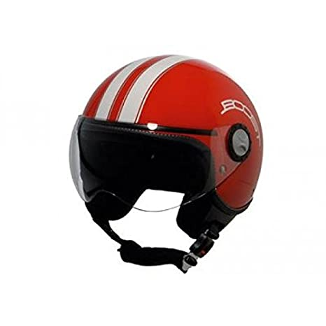 Casque boost b730 retro 2 rouge/blanc xl - Boost BS02416