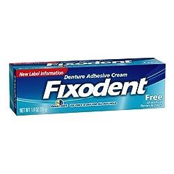 Fixodent Free Denture Adhesive Cream 1.4 Oz
