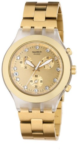 Swatch Men's SVCK4032G Stainless Steel Analog Watch with Gold Dial Watch