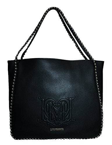 LOVE MOSCHINO Borsa Shopping Donna Pebble Ecopelle Perline Nero JC4062PP1KLG0000