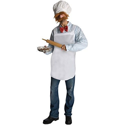 [GSG The Swedish Chef Funny Costume Adult Mens The Muppets Halloween Fancy Dress] (Gollum Mask Costume)