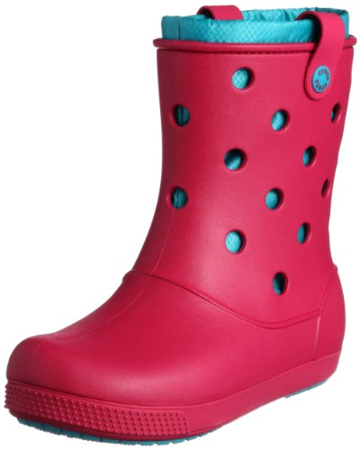 Crocs Women's Crocband Arc Lined Boot Raspberry/Turquoise Ankle Boots 14645-6Z2-440 5 UK, 38 EU, 7 US