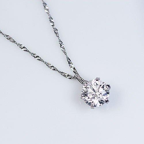 【KASHIMA】プラチナ900・0.3カラット・ダイヤモンド・一粒石・プチ・ペンダント