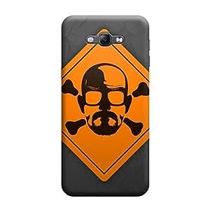 Desicase Samsung A8 Heisenberg Danger Skull Design 3D Matte Finishing Printed Designer Hard Back Case Cover (Multicolor)