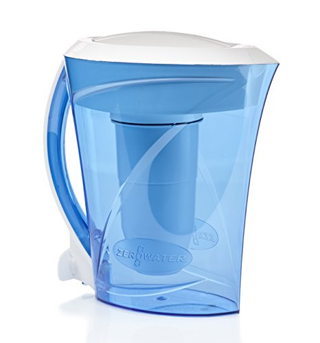 ZeroWater 8 Cup Pitcher with Free TDS Light-Up Indicator (Total Dissolved Solids) - ZD-013D (Water Pitcher Filter Zero compare prices)