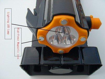 Earthquake Disaster Survival Multifunction Survival Kits -- Safety Hammer + Flashlight + Led Lighting + Razor Blade + Radio + Cutter + ......