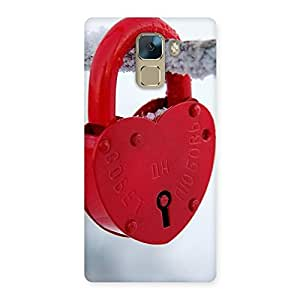 Special Red Lock Multicolor Back Case Cover for Huawei Honor 7