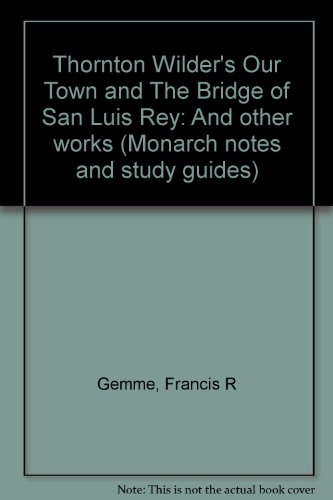 an analysis of the key literary elements in the bridge of san luis rey The bridge of san luis rey he was educated and majored in drama at the san jose during the first days of its use large number of people crossed the bridge.