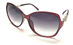 AKSHAJ Vintage Retro Style Red Butterfly Womens Sunglasses Goggles Shades