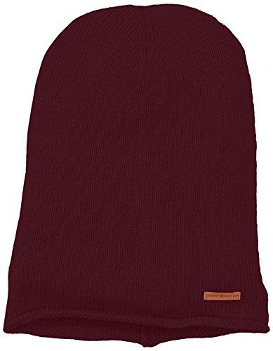Tommy Hilfiger Odin Hat, Berretto a Maglia Donna, Rot (Deep Cabernet 596), Taglia Unica