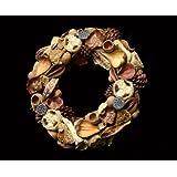 Exotic Creations Feliz Navidad -Dried flower wreath(Natural,L=40 cm X W=40 cm X D= 40 cm)