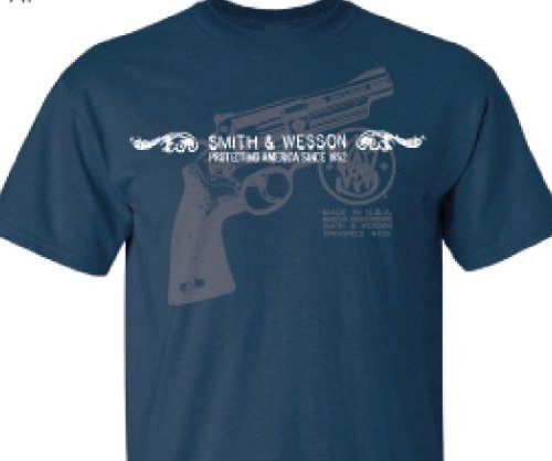 smith-wesson-herren-t-shirt-blau-harbor-blue-medium