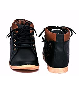 Freedom Daisy Men's Black Synthetic Boots