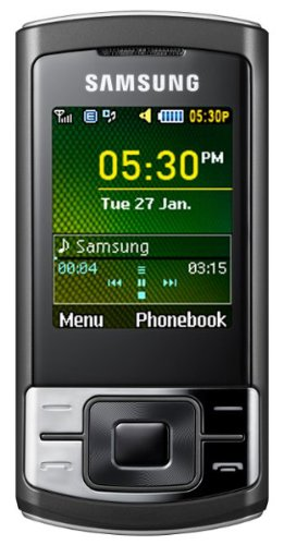 Samsung C3053 Stratus Quad-band GSM Unlocked Cell Phone with Bluetooth, Speakerphone and FM Radio–International Version with No Warranty (Black)