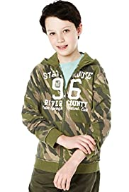 Hooded Camouflage Sweat Top