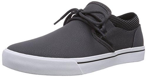 Supra CUBA, Low-Top Sneaker uomo, Grigio (Grau (GREY / BLACK - WHITE   GBK)), 44