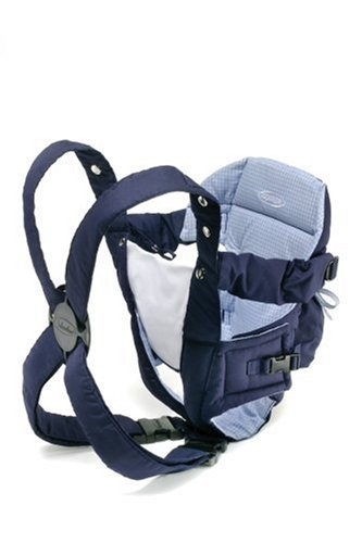 Infantino Go Go Rider Carrier In Navy/Blue Plaid front-828681