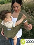 Boba Wrap BLACK -- Infant Baby Carrier -- Preemie - 18months (Prev. Sleepy) (DarkGreen)