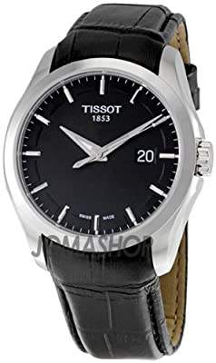 Tissot Couturier Leather Date Strap Black Dial Men's Watch #T035.410.16.051.00