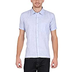 ALLTIMES Men's Blue Color Shirts