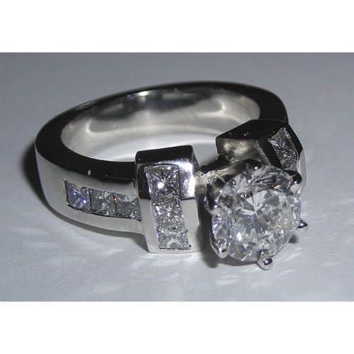2.71 carats white gold diamond ring real genuine diamonds