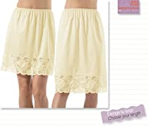 """Half Slip with lace 24', 27"""" Available in Large Plus Size & many Colors!"""