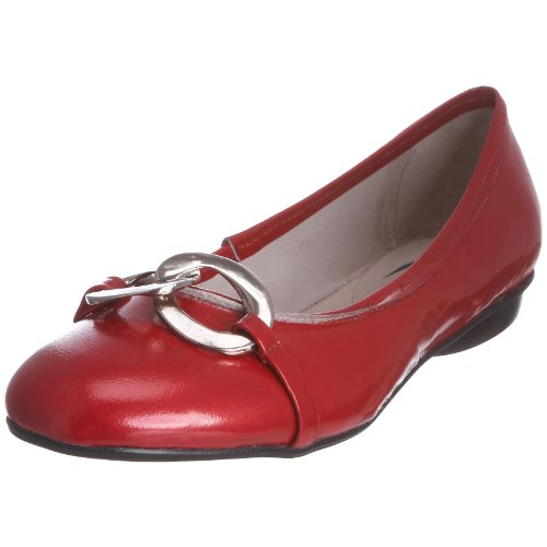 Pump & Circumstance Women's Bebuckle Flat Plum PM205B 4 UK