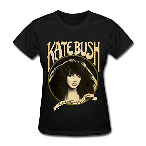 UTU English Singer Kate Bush Womens Fashion T Shirt Black XS (Kate Bush Shirt compare prices)