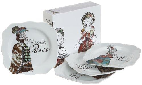 Rosanna Marie Antoinette Set Of 4 Dessert Plates, Gift-Boxed