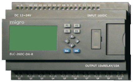 Programmable Logic Controller Plc 16 Dc Input, 10 Relay Output, 365 Days Time Clock Elc26Dc