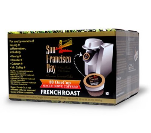 San Francisco Bay Coffee OneCup for Keurig K-Cup Brewers, French Roast, 80-Count