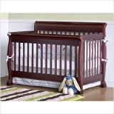 Bundle-87 Kalani 4-in-1 Convertible Crib with Toddler Rail in Cherry (2 Pieces)